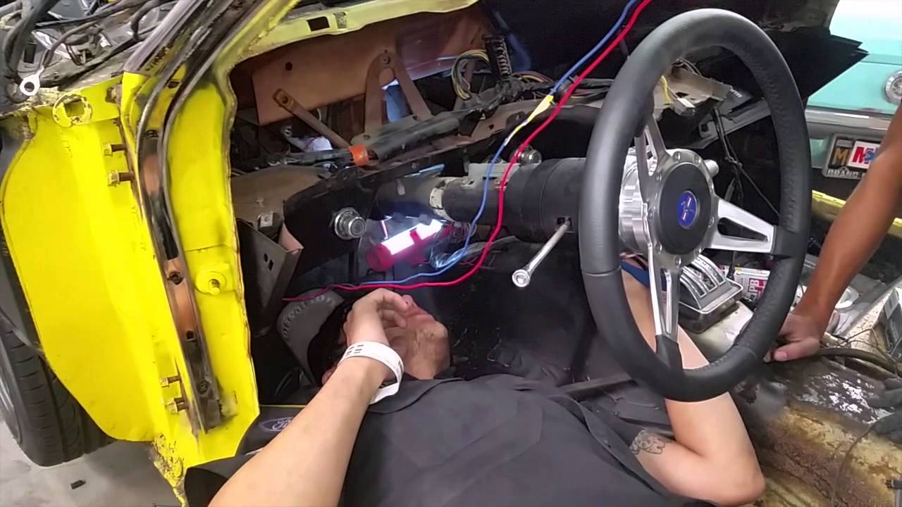 dash removal and wiring gerry s 1970 mustang fastback day 8 70 mustang steering column 70 mustang dash wiring [ 1280 x 720 Pixel ]