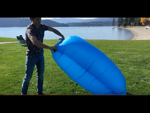 How to inflate laybag, lazy bag, air sofa, air lounge, inflatable lounger!