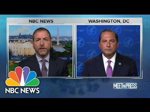 HHS Secretary Azar: 'The Window Is Closing' To Stop Virus Spread | Meet The Press | NBC News