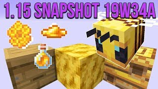 Minecraft 1.15 Snapshot 19w34a Bees In Minecraft! Bee Nest, Hive, Honeycomb & Honey!