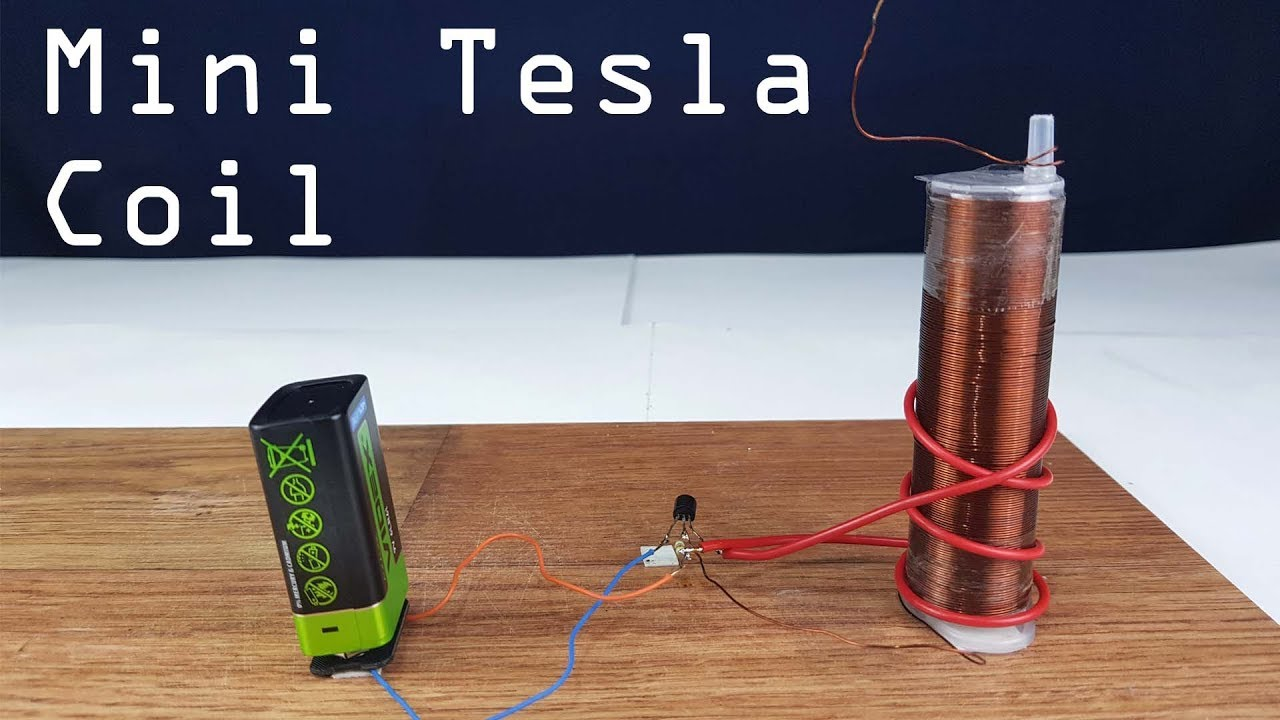 Mini Tesla Coil 9 Volts How To Make Diy Youtube