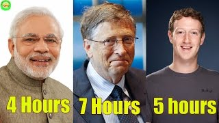 You Won't Believe for How Many Hours 6  Highly Successful People Sleep in a Day