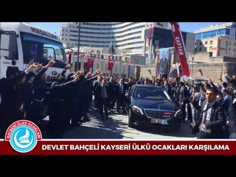 Kayseri Ülkü Ocakları DEVLET BAHÇELİ'Yİ Efsane Karşıladı