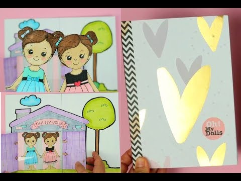 DIY paper dollhouse quiet book cover making