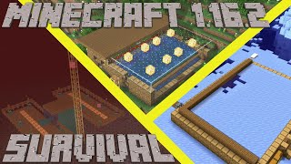 Minecraft 1.16 Survival | How to Make a Hoglin Farm Ice Farm & Flower Farm in Survival -Avomancia 11