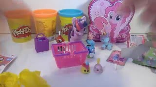 Play Doh Cans Shopkins Candy Disney My little pony Toys UnboxinG Play Set
