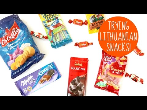 Trying Lithuanian Snacks!