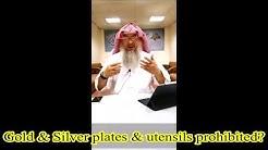 Gold and Silver plates & utensils - Assim al hakeem