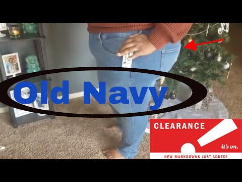 OldNavy Rockstar Jeans Try On Haul!! (CLEARANCE)