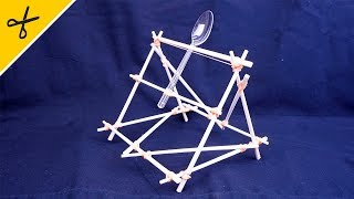 石を投げ飛ばせ!【割りばし投石機の作り方】 How to make catapult