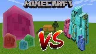Minecraft SAVAŞLARI - DEV SLİME vs DİAMOND GOLEM