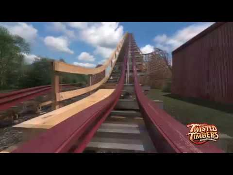 POV: Twisted Timbers roller coaster at Kings Dominion
