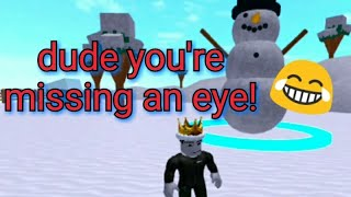 SPEED CITY SNOWMAN EYE TUTORIAL and one million steps (roblox)