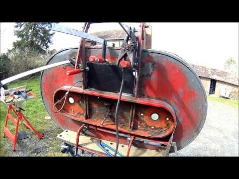 """Westwood Ride-on Mower - Cutting deck repair (early Diesel, 42"""" deck)"""