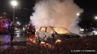22.11.2019 - Ild i bil ved Vallensbæk