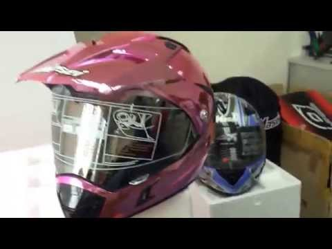 Masei 311 Pink Chrome DOT & ECE KTM Lady Arai Motocross ATV Helmet