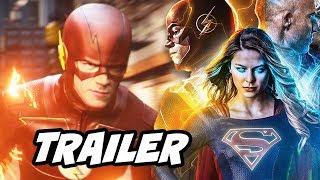 The Flash Season 3 Supergirl Season 2 Arrow Crossover Trailer Breakdown