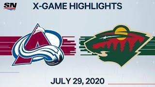 NHL Highlights   Avalanche vs. Wild – Jul. 29, 2020