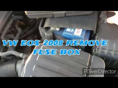 [SCHEMATICS_48ZD]  VW eos 08 Remove Fuse Box - YouTube   Vw Eos Fuse Box      YouTube