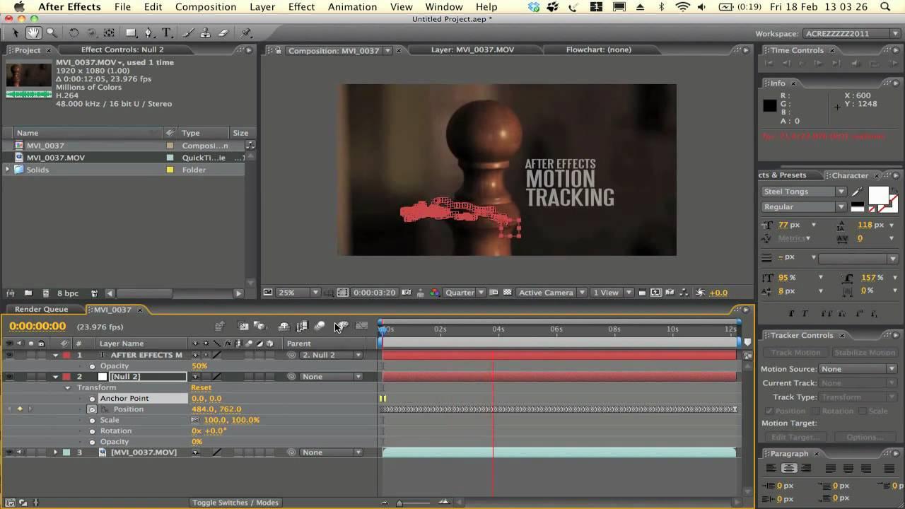 After effects motion tracking tutorial acrezhd youtube baditri Choice Image