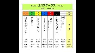 <第2回 2月ステークス(JtsⅢ 16.00秒)>(2018/2/28公開)