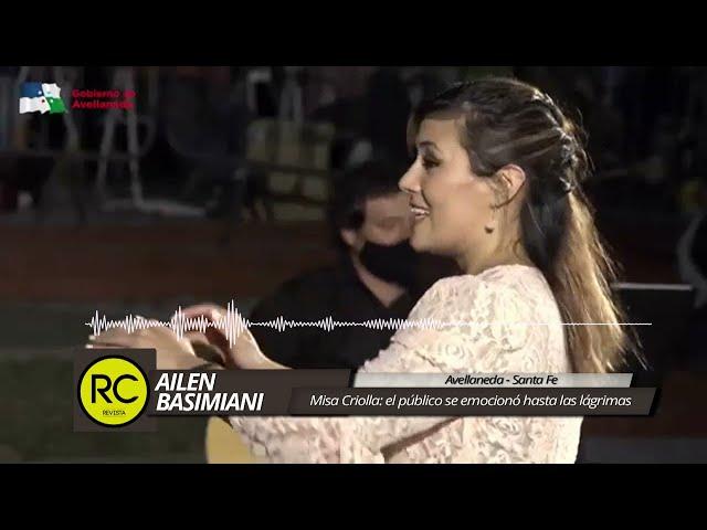 Ailen Basimiani: el público se emocionó hasta las lágrimas con la Misa Criolla