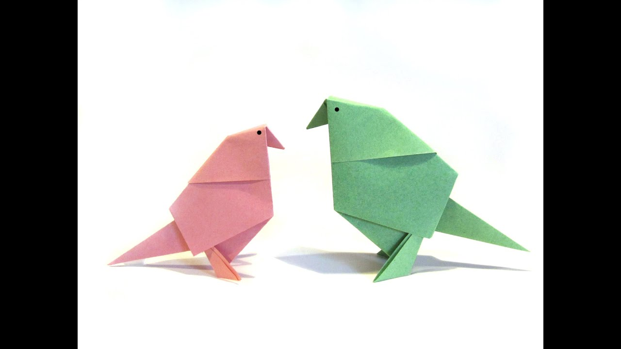 Easter Origami Bird - Easy Origami Tutorial - How to make ... - photo#11