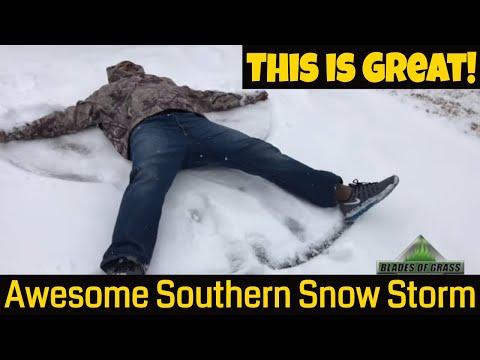 2018 Snow Storm in the South Savannah, Georgia near Florida