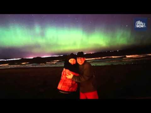 Northern Lights over Edinburgh and the Lothians