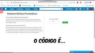 Roblox promocode New Intem reads description