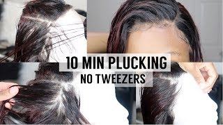 EASY Lace Frontal Customization | 10 MIN PLUCKING | Unice Hair