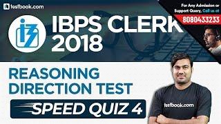 IBPS Clerk 2018   Direction Test for Clerk Prelims   Reasoning Speed Quiz 4   Shyam Sir