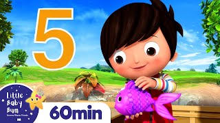 12345 Once I Caught A Fish Alive +More Nursery Rhymes and Kids Songs | Little Baby Bum