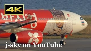 [4K] Normal and Special Livery AirAsia Airbus A330 at Kansai Airport / 関西国際空港