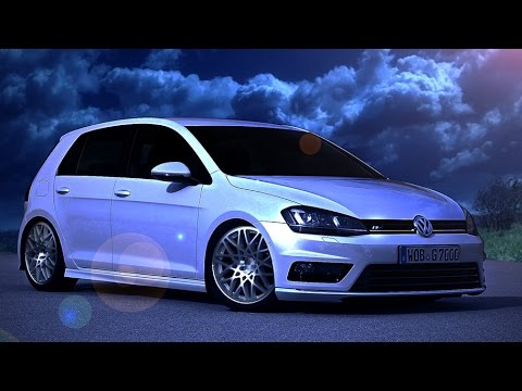 photoshop virtual tuning volkswagen golf 7 r line 6 youtube. Black Bedroom Furniture Sets. Home Design Ideas