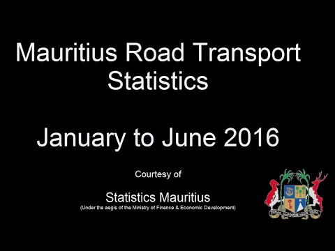 Road Transport Statistics, January to June 2016
