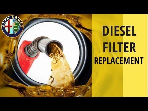turbo diesel fuel filter replacement - alfa romeo 147 jtdm