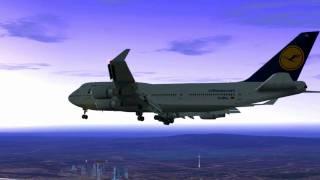 FS2004 Flight from Dubai to Frankfurt on B747-400