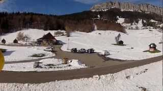 Quadcopter over Chartreuse mountains, French Alps