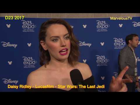 Daisy Ridley at D23 discusses Star Wars: The Last Jedi
