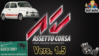 Assetto Corsa - Gameplay ITA - Logitech G27 - Versione 1.5 - Abarth 595 ss Black Cat County