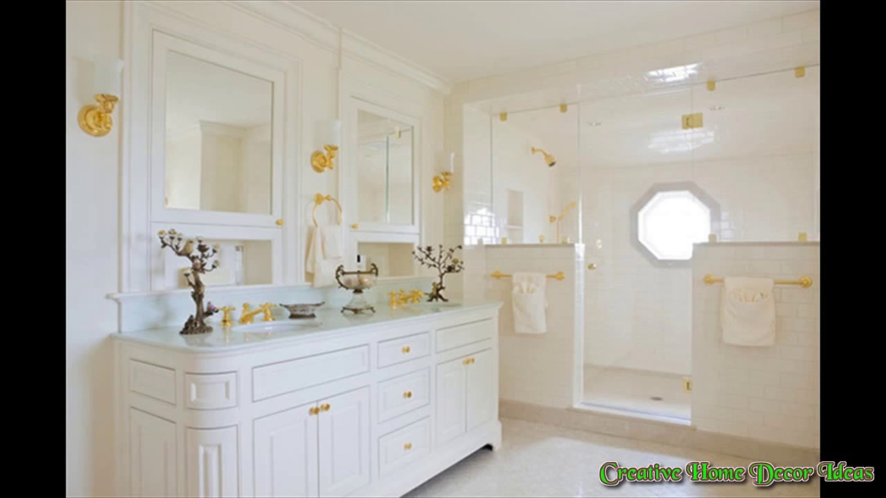 White and Gold Bathroom Ideas - YouTube