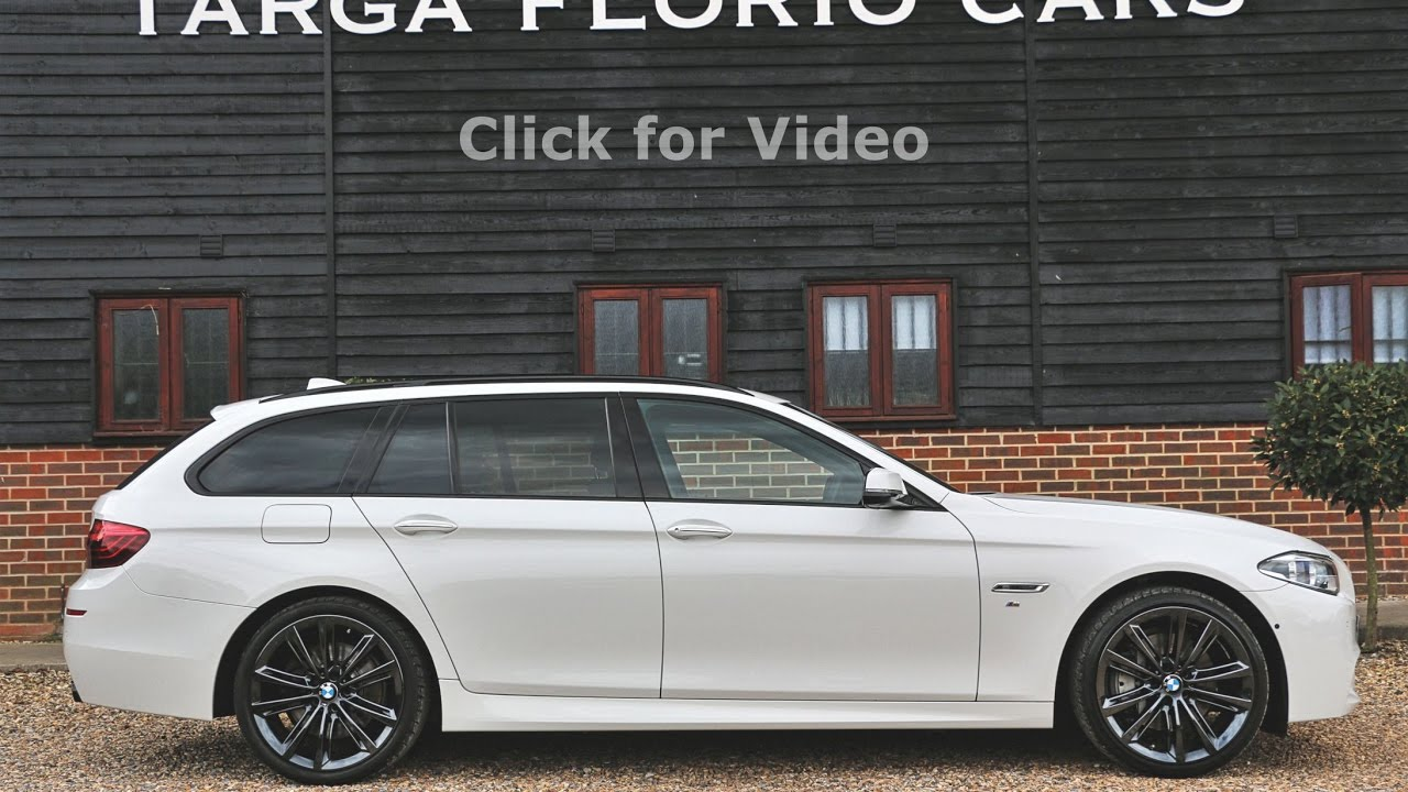 BMW 535d M Sport Touring finished in Alpine White