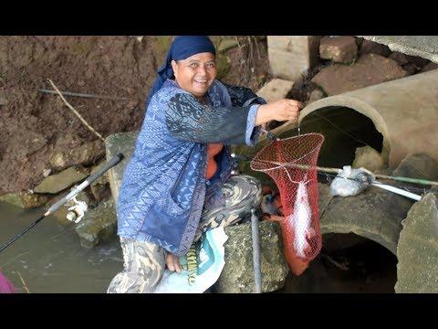 net fishing , catching fish in savannakhet laos