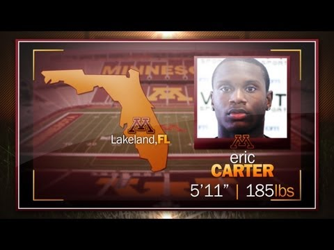 Eric Carter Highlights: 2013 Gopher Football Signing Day