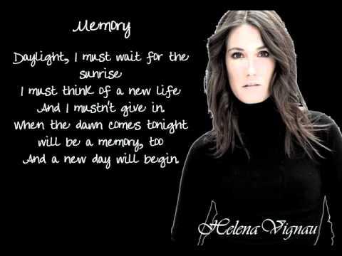 Memory Barbra Streisand Cats Musical Lyrics Cover By Helena Vignau Youtube