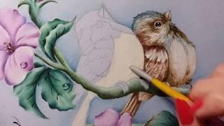 Passarinhos (Pardais) – parte 3 – Pintura em tecido
