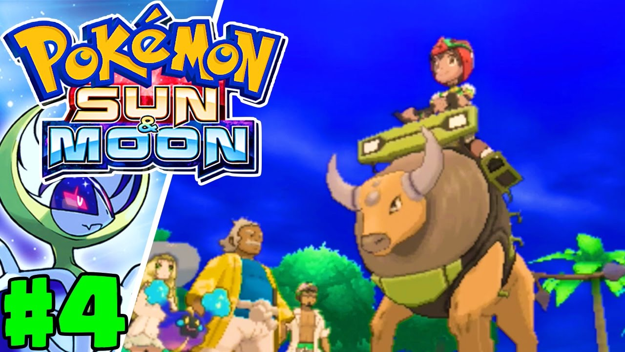 Riding Tauros Pokemon Sun Moon Gameplay Walkthrough Episode 4