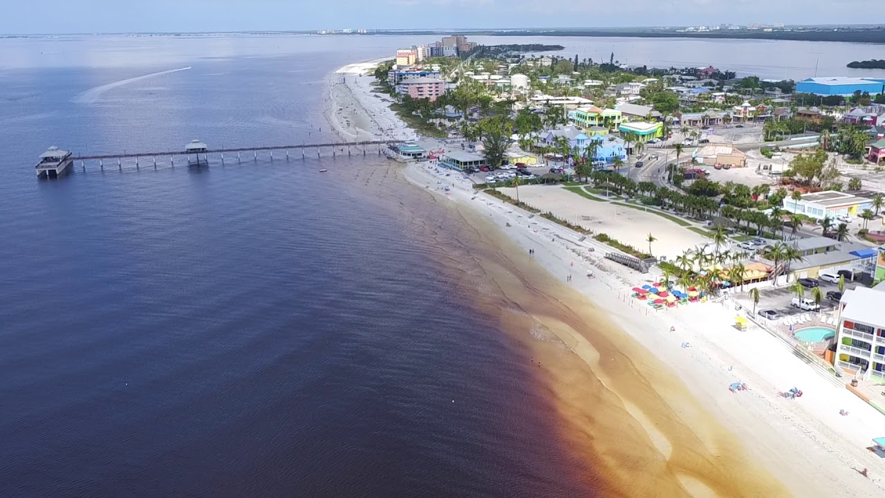 Drone Video Shows Brown Water Along Fort Myers Beach