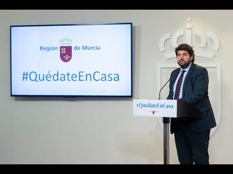 López Miras desafía a Pedro Sánchez y pide cerrar todas las actividades no esenciales